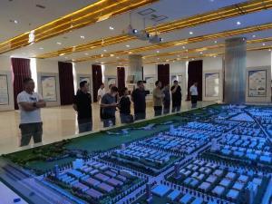 协会组织会员单位考察舞阳县产业集聚区